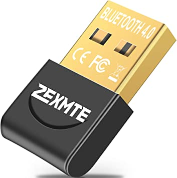ZEXMTE Bluetooth USB Adapter CSR 4.0 USB Dongle Bluetooth Receiver Transfer Wireless Adapter for Laptop PC Support Windows 10//8//7//Vista//XP,Mouse and Keyboard,Headset