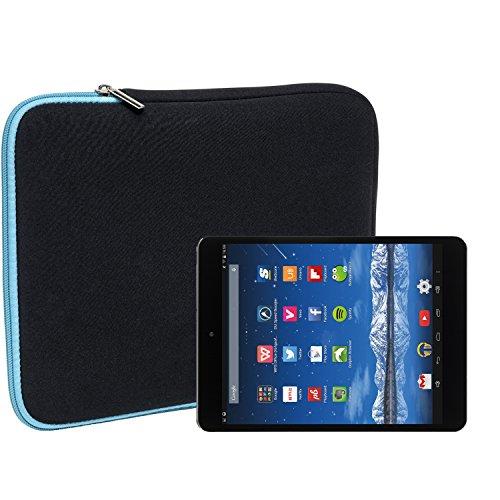 Slabo Tablet Tasche Schutzhülle für Hisense Sero 8 Pro Hülle Etui Hülle Phablet aus Neopren – TÜRKIS/SCHWARZ