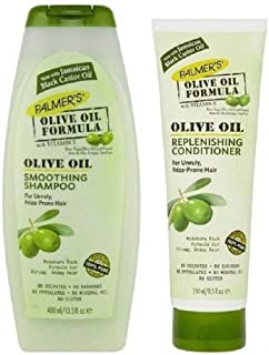 Palmers Olive Oil Formula Smoothing Shampoo 400ml & Replenishing Conditioner 250ml Pack