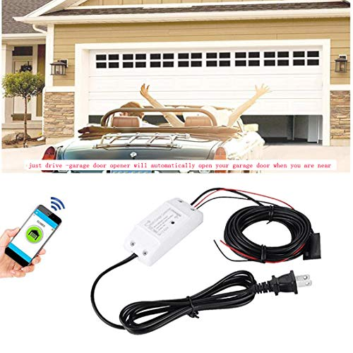 Smart Wi-Fi Alexa Garage Door Openers Remote control Smart Phone Wireless Android iOS APP Compatible with Alexa and Google Assistant IFTTT, No Hub needed
