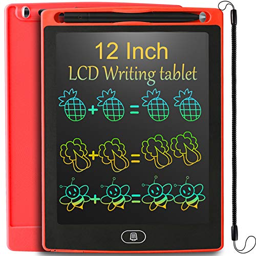 JOEAIS LCD Tablette D'écriture 12 Pouces, Anti-Chute D'écriture électronique Planche à Dessin numérique Tablette Graphique de Dessin Convenant aux Enfants, Cadeau pour Garçons Filles