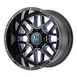 xd series 22 - XD Series XD820 Сustom Wheel - Grenade Satin Black Milled with Blue Clear Coat 20