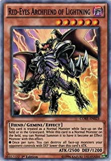 Yu-Gi-Oh!! - Red-Eyes Archfiend of Lightning (CORE-EN023) - Clash of Rebellions - 1st Edition - Super Rare