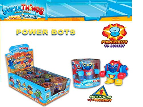 MAGIC BOX TOYS- POWERBOTS SUPERTHINGS Power Machines, Multicolor (Juguetes Pastor, S.L. PST7D068IN00)
