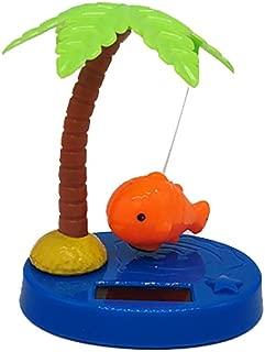 Potato001 Funny Solar Power Dancing Car Decor Solar Powered Dancing Swing Coconut Tree Fish Home Car Ornamnet Decoration Gift - Orange