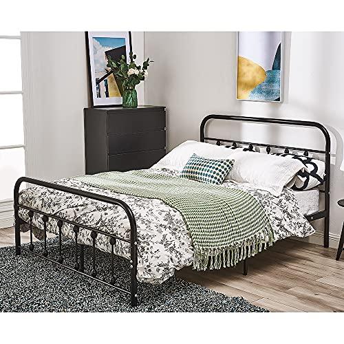 3FT Single Metal Bed Frame Modern Stylish Bedstead Guest Twins Bedframe Black (Black, 3FT)