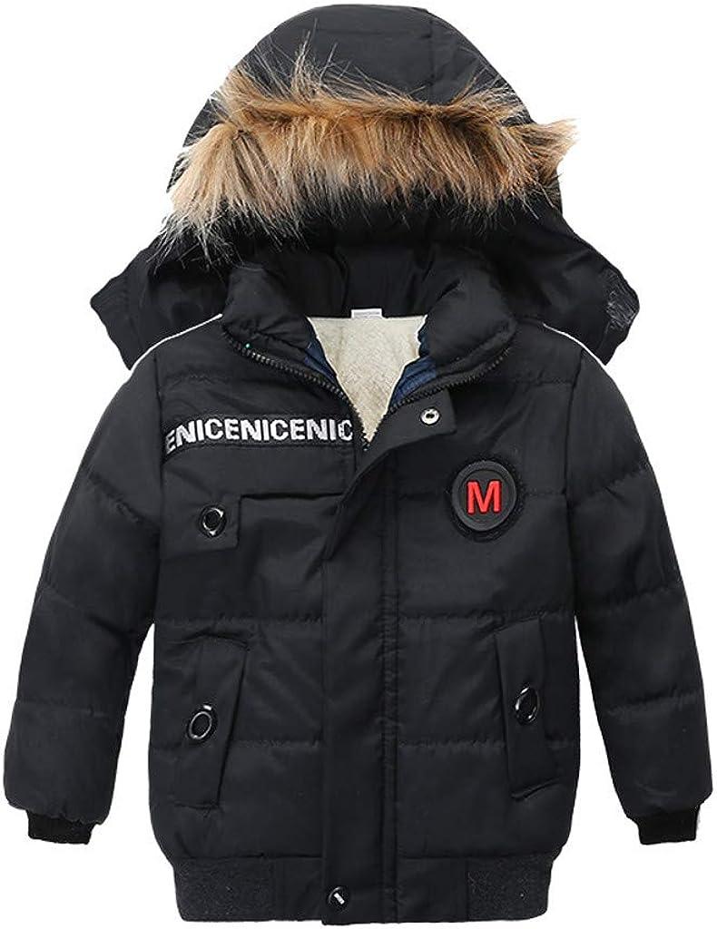 Ikevan Children Kids Boys Girl Winter Coats Jacket Zip Thick War