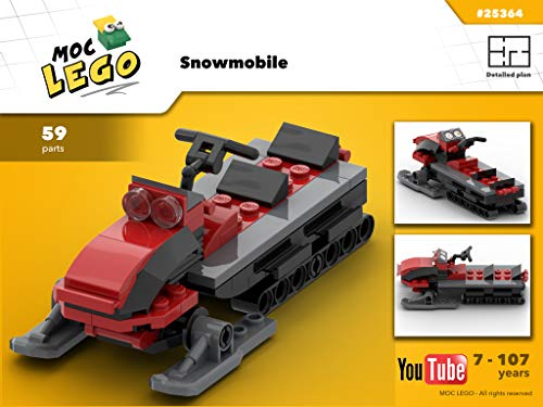 Snowmobile (Instruction Only): MOC LEGO (English Edition)