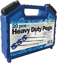 Hard Ground Twisters with Plastic Handles Screw-Thread Peg Leisurewize LW630 30-Piece Pile Driver Rock Peg Set