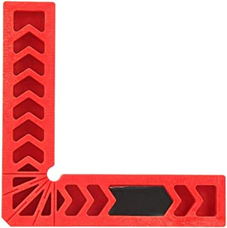 90 Degree Positioning Clip Square Right Angle L-Shaped Ruler, Perforated Locator Woodworking Fixture Tool Auxiliary Positioner(6 inches)