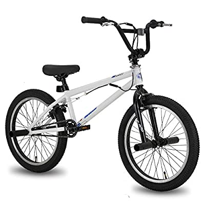 Hiland 20 Inch Kids Bike for Boys BMX Freestyle Bicycle White Blue
