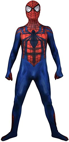 ASJUNQ Spider-Man Body Siamois Cosplay Costume D' Show Film Univers Parallèle Thème Props HalFaibleeen,Adult-XL