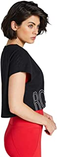 Rockwear Activewear Women's Waikiki Crop Tee Black 14 from Size 4-18 for T-Shirt Tops