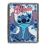 Lilo & Stitch, 'Shibori Stitch' Woven Tapestry Throw Blanket, 48' x 60', Multi Color