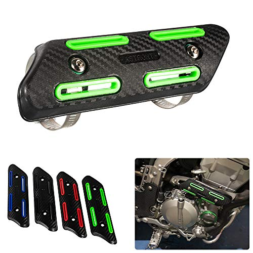 Motocross Exhaust Heat Shield Header Pipe Straight Section Protective Cover for Dirt Bike ATV for KXF250/450 CRF250/450 SXF250/350/450/500 (Green)