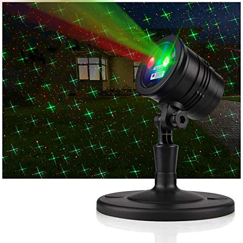 YINUO LIGHT Waterproof Projector Lights Landscape Spotlight Red and Green Star Show for Indoor Outdoor Garden Patio Wall