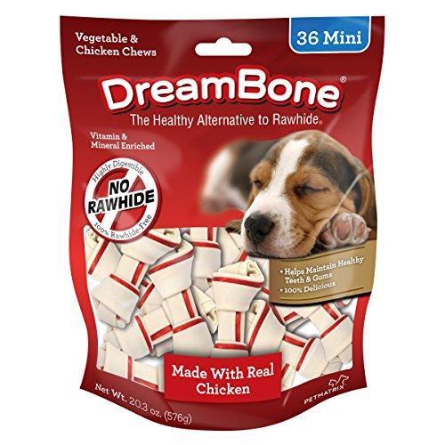 Dreambone Vegetable & Chicken Dog Chews, Rawhide Free, Mini, 36-Count - DBC-02028
