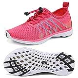 CIOR Kids Water Shoes Boys & Girls Quick Drying Sports Aqua Athletic Sneakers Lightweight Sport Shoes(Little Kid/Big Kid) U1ELJSX005-Pink-32