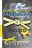 Taekwondo Notebook: Congratulations on passing your Yellow Stripe Grading College Ruled Composition Notebook gift. 8.5 x 11 Lined Journal for Writing ... Kwon Do Yellow Belt | 11 book collection TKD
