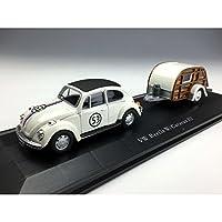 ★ホンウェル[148014](1/43) VW ビートル#53 キャンピングカー付 レーシングクリーム ミニカー