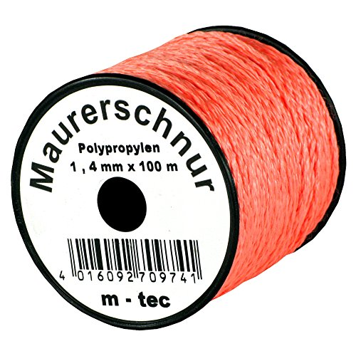 Lot-Maurerschnur 100 m x Ø 2,0 mm Orange-Fluoreszierend