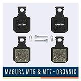 Alphatrail Pastillas de Freno - Magura Typ 8 MT5 & MT7 I Orgánico Pastilla de Freno MTB con Alta Potencia de frenado y kilometraje I Magura MT5 Magura MT7
