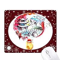 図中国提灯橋 オフィス用雪ゴムマウスパッド