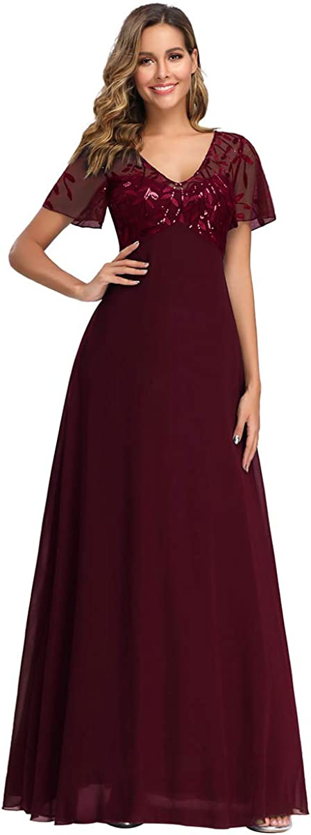 Ever-Pretty New product! New type Women's A-Line Sweetheart Maxi Illusion Embroidered Max 87% OFF