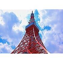 絵画風 壁紙ポスター (はがせるシール式) 東京タワー 電波塔 東京オリンピック キャラクロ TKT-001A1 (A1版 830mm×585mm) 建築用壁紙+耐候性塗料