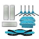WuYan HEPA filtro rodillo cepillo fregona almohadillas paño para cecotec Conga 3290 3490 3690 Partes de aspirador repuestos cepillo lateral kits de reemplazo