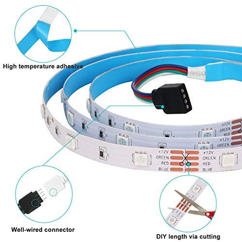 WenTop Led Strip Lights 32.8ft for Bedroom with Remote (2 Rolls of 16.4ft) 4