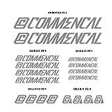 Adesivi Bici COMMENCAL 2015 Kit Adesivi Stickers 18 Pezzi -Scegli SUBITO Colore- Bike Cycle pegatina cod.0301 (Grigio Medio cod. 074)