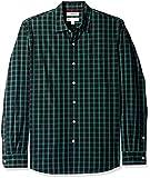 Goodthreads MGT250002, Camiseta para Hombre, Verde (Black/Green Check), L