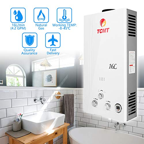 Tengchang 16L 4.2GPM Natural Gas Hot Water Heater Tankless w/Shower Head Kit