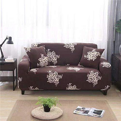 Funda de sofá de impresión Colorida geométrica Fundas elásticas Funda de sofá antisuciedad Funda de sofá Funiture Toalla All Wrap A18 2 plazas