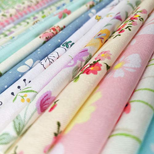 "60pcs Quilting Fabric Squares Sheets 60 Different Lovely Floral Pattern Pack Assorted Sewing Quilting Fabric for Craft 12""x 12""(30 cm x 30 cm) 100% Cotton"