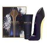 Carolina Herrera Good Girl For Women Gift Set (Eau De Parfum Spray 2.7 oz.+ Body/Lotion 3.4.oz) , blue