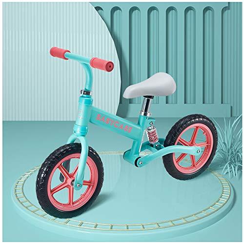 Shuhong Loopfiets voor kinderen, Eva-fiets, capaciteit 110 kg, zitting en stuur verstelbaar, leeftijd 2 tot 6 jaar, 80-120 cm