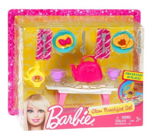 Barbie - Mini Accessoire Maison Glam: Ensemble Petit déjeuner (Mattel X7933)