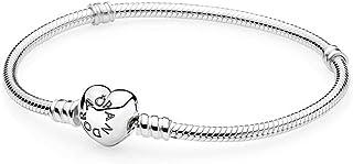 PANDORA 590719-21 Sterling Silver Heart Clasp Bracelet 8.3