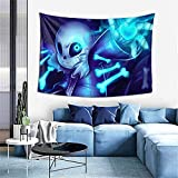 D-WOLVES Under-tale San-s Tapestry,Anime Tapestry Wall Hanging Art Print Mural Tablecloth 3D Anime Poster for Living Room Bedroom Dorm Decor Home Party Decorations,60x40 inches