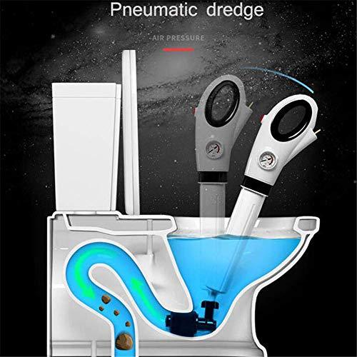 Pistone per WC, Pulitore per WC Pneumatico, Adatto per WC, WC, Scarichi a Pavimento, Strumenti per Blocco fognature