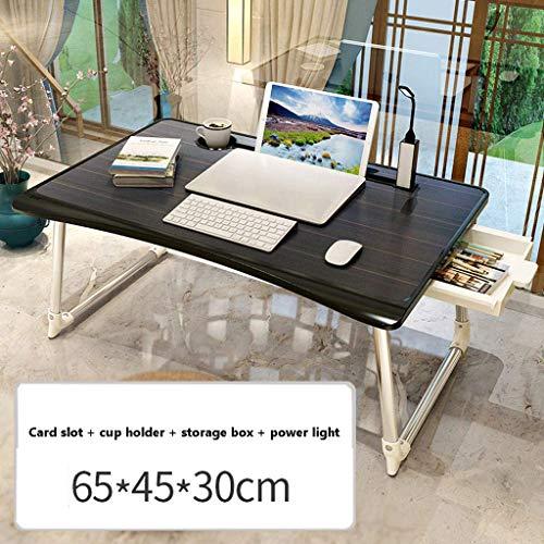 JD Bug Draagbare draagbare opklapbare tafel voor laptop, Tafelblad voor laptop Bijzettafel Koffietafel Slaapbank Koffietafel Koffietafel Tafel met Slaapzaal -A-65x45x30cm