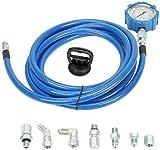 VOWAGH Fuel & Oil Pressure Mechanical Gauge Test Tool Set Kit Fit for Powerstroke 6.0L 7.3L