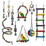 THE TWIDDLERS 10 Piezas Juguetes para Loros y Pájaros - Juguetes para Masticar para Pequeños y Medianos Loros y Pájaro Mascotas