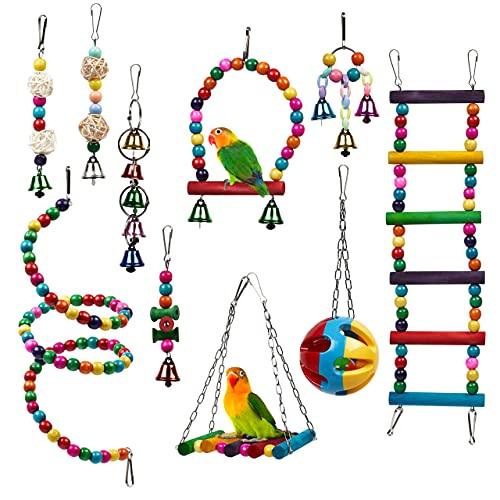 THE TWIDDLERS 10 Stück Vogelspielzeug für Papageien & Kleinvögel – Robust & Kaubar