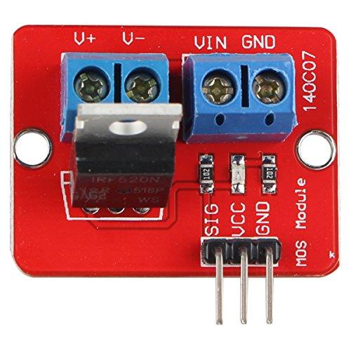 HALJIA IRF520 MOS FET MOSFET-Treibermodul Kompatibel mit Arduino Raspberry Pi ARM MCU