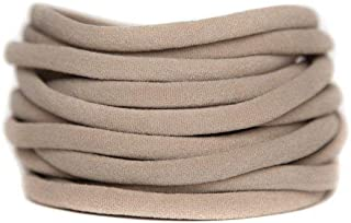 Nylon Headbands Nude pack 20 super soft stretchy one size fits all elastic bands for infant baby babies girl Toddler Adult Skinny Headbands Run-Resistant Headbands DIY Baby Headbands