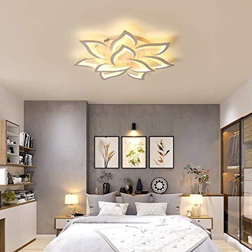 LED Deckenleuchte Blume Kreative Design Deckenlampe Innen Decken Beleuchtung für Schlafzimmer Wohnzimmer Küche Esszimmer Weiß Acryl Lampenschirm Dekorative Lampe,Dimmable,10lights