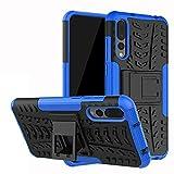 Labanema Huawei P20 PRO Custodia, Kickstand Dual Layer Ibrida Rigida Morbido Armatura Resistente agli Urti con Supporto e asportabile di Protezione per Huawei P20 PRO-Blu
